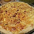 Tarte oignons et lardons