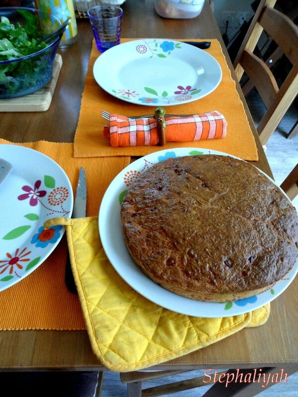 Gâteau salé jambon moutarde -- 3