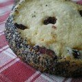 Biscuits diamants carrément surprenants aux cranberries séchées, noisettes et graines de pavot