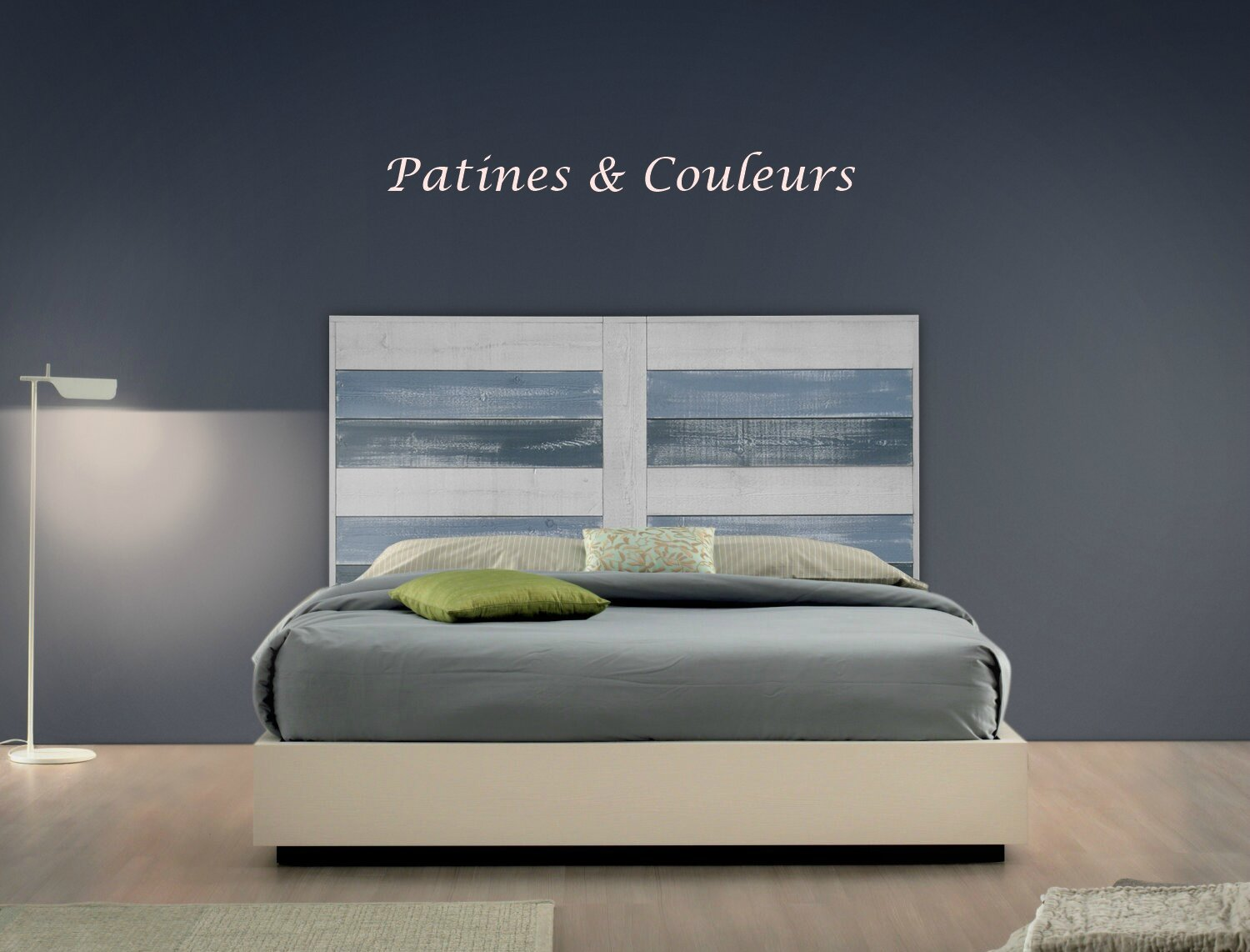 nouveaut t te de lit bord de mer patines couleurs. Black Bedroom Furniture Sets. Home Design Ideas