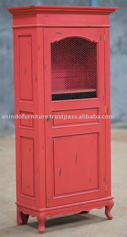 Cheap_Furniture_Red_Painted_Kitchen_Cabinet