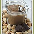 Crème façon danette chocolat-pistache