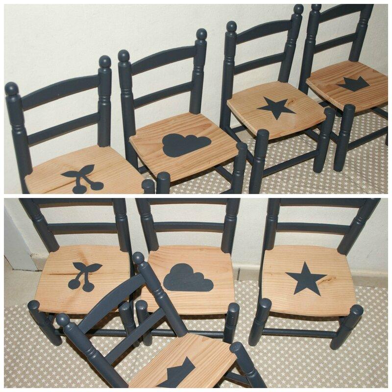 petites chaises d'écoliers