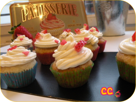 cupcake fraise chocolat blanc cooking & creations