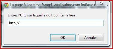 Lien hypertexte avec Yahoo Mail