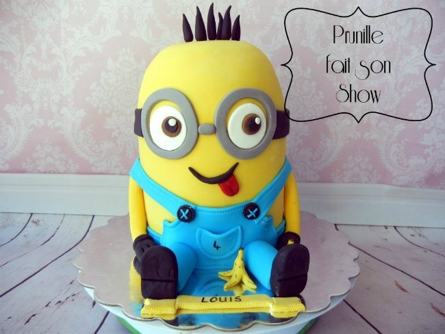 gateau minion 3D prunillefee