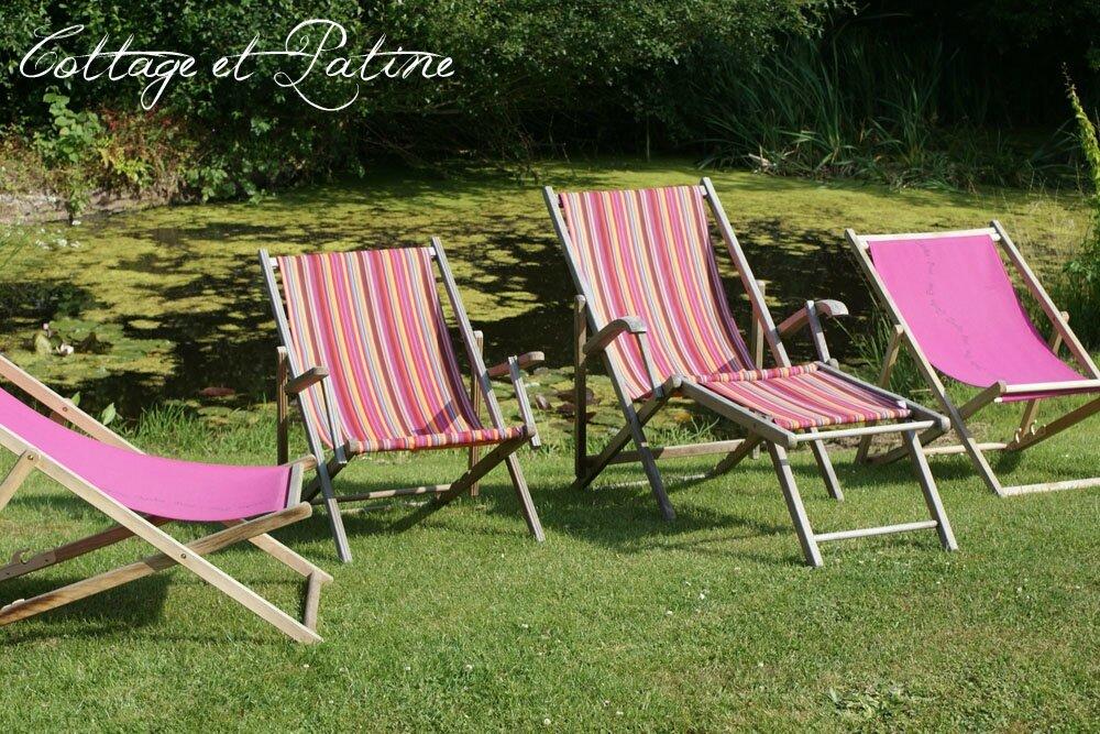 peau neuve pour chaises longues ext rieures cottage et. Black Bedroom Furniture Sets. Home Design Ideas