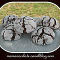 Crinkles ou biscuits craquelés au chocolat
