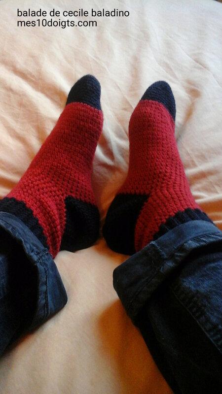 Chaussettes crochet 2