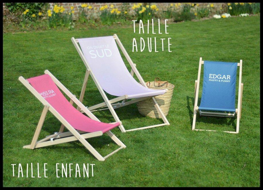 Trendy transat personnalisable factorychic le blog for Transat pour jardin