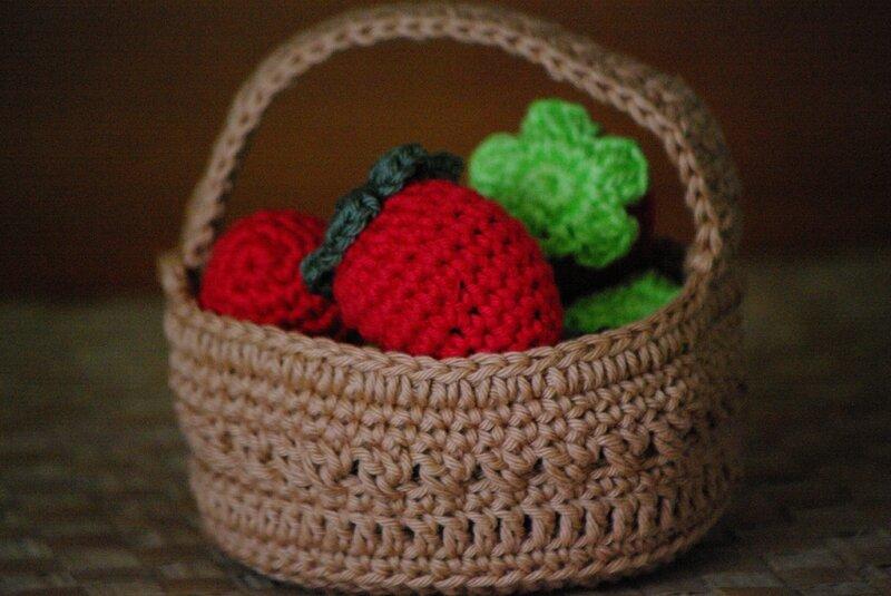 crocheter une barquette de fraises