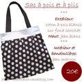 Sac marron à pois blancs