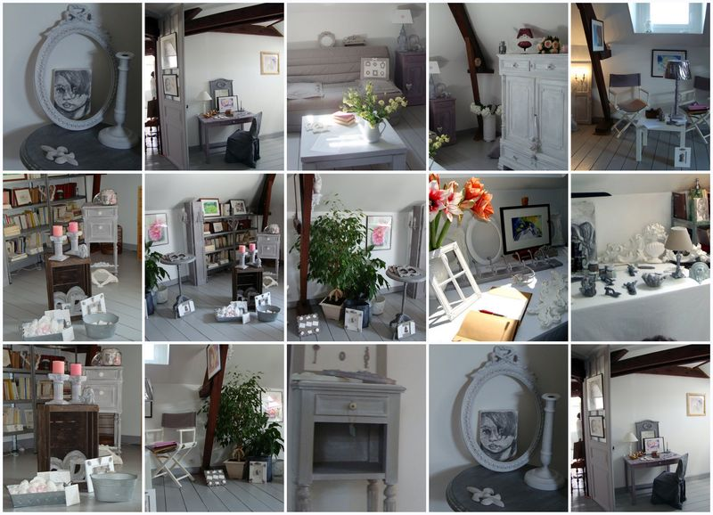 voici quelques clich s de la vente priv e patine de campagne. Black Bedroom Furniture Sets. Home Design Ideas