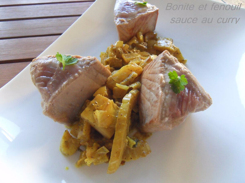 Bonite et fenouil sauce au curry1