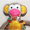 Le doudou singe d'ashley