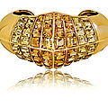 Rare citrine and gold art deco cuff by rené boivin
