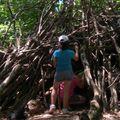 découverte d'une petite hute lors de notre randonnée de la mine