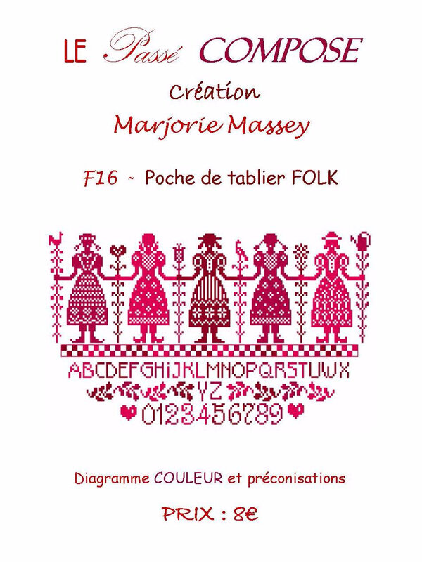 poche de tablier folk F16