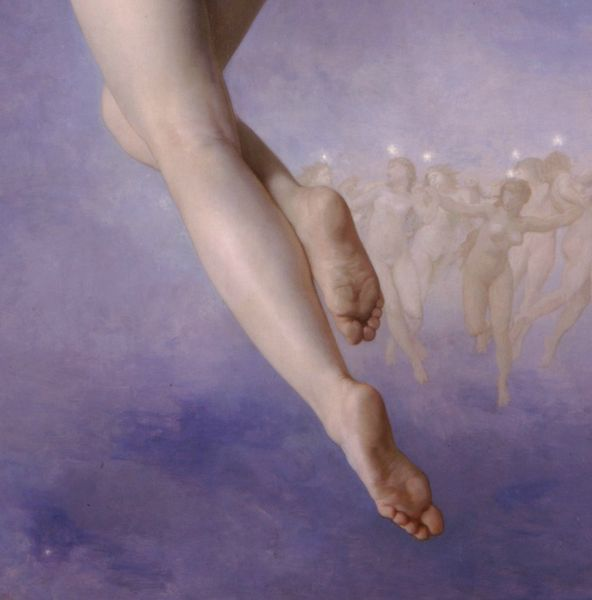 Lost Pleiad 1884 detail - William-Adolphe Bouguereau