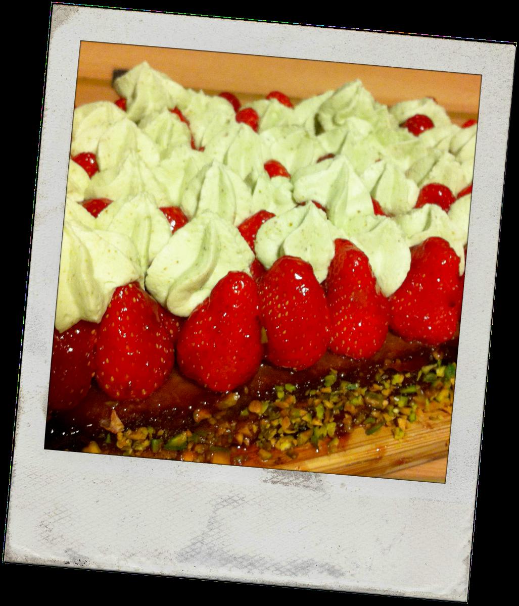 Tarte aux fraises et à la pistache by Christophe Michalak