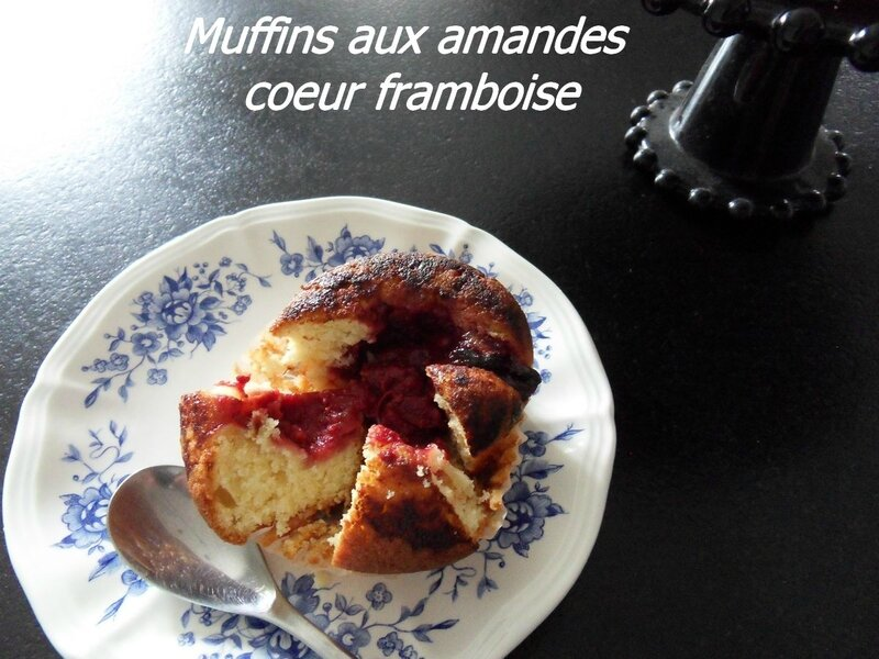 muffins aux amandes coeur framboise1