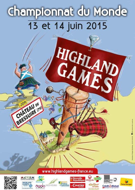 HIGHLAND GAMES FRANCE AFFICHE