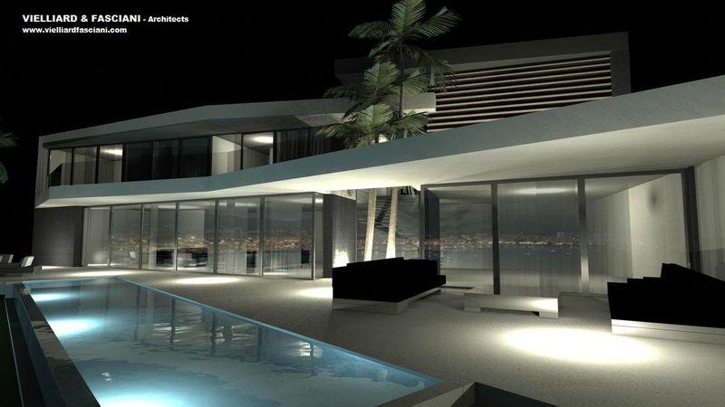 Villa bord de mer cote d 39 azur cannes saint tropez for Bar moderne pour maison