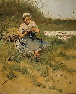 Kuyck_Knitting_Girl