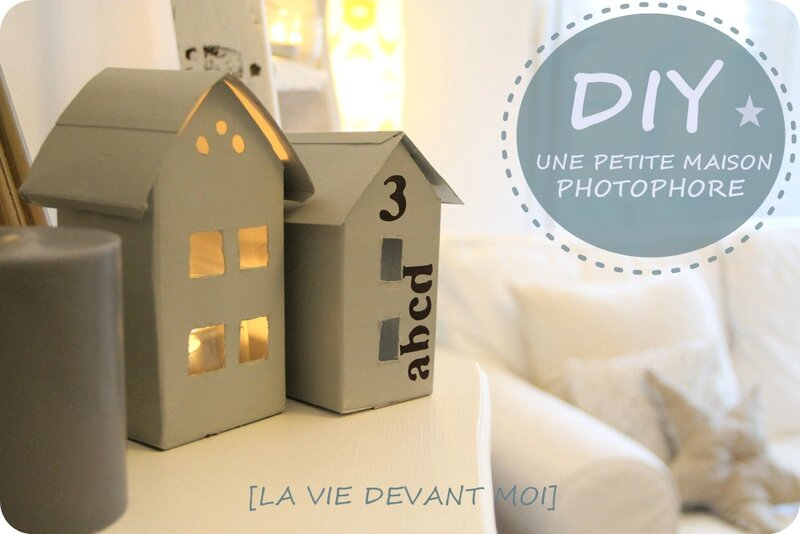 diy fabriquer une petite maison photophore la vie devant moi. Black Bedroom Furniture Sets. Home Design Ideas