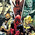 Deadpool et les defenders et heroes for hire !!!