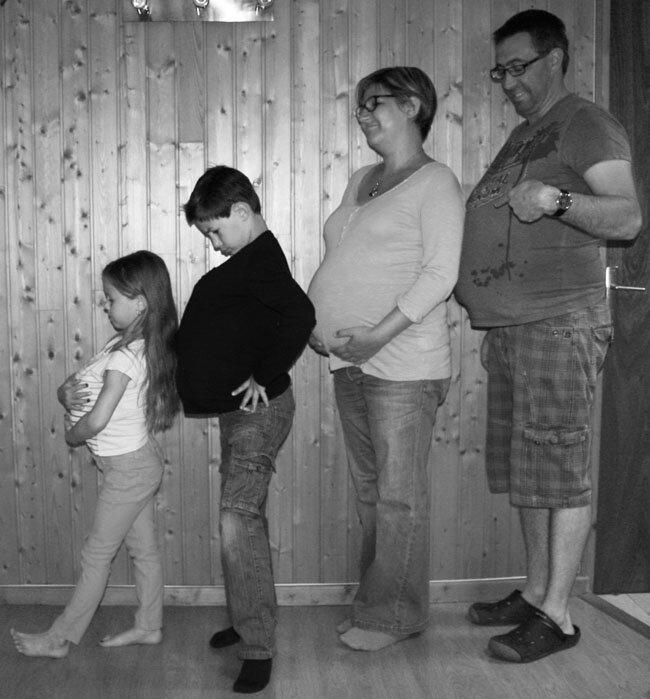 4 grossesse n&b