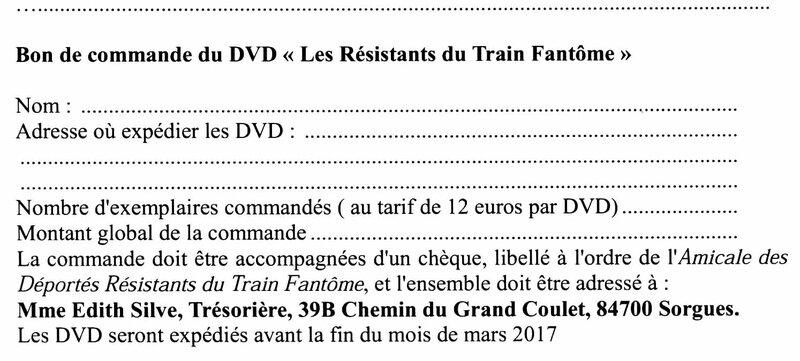 DVD du Train Fantôme, 2017