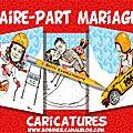 Faire-part mariage humoristique - hiver - ski et course rallye