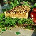 Tarte cévenole à la purée de figues et fruits secs