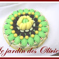 composition gourmande - gateau de bonbons