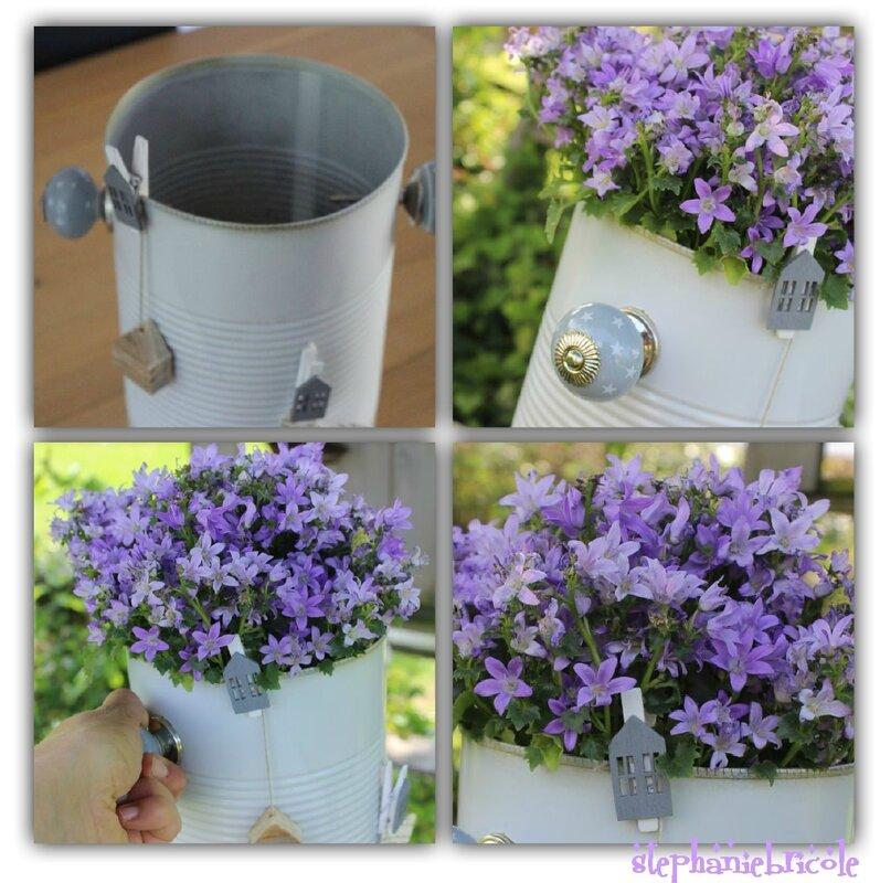 accroché pots de fleurs