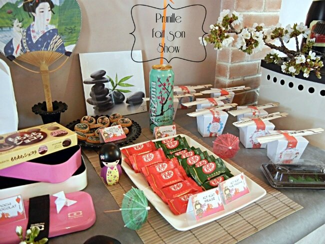sweet table manga et japon prunillefee mochi kitkat sushi box