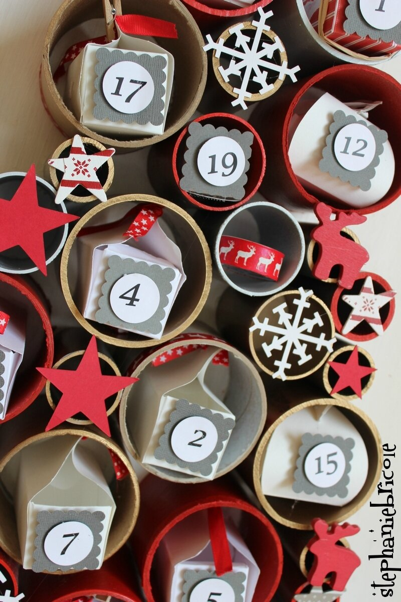 diy r cup calendrier de l 39 avent rouleaux xl. Black Bedroom Furniture Sets. Home Design Ideas