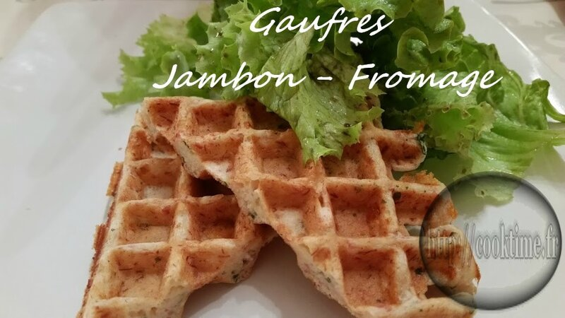 Gaufres jambon fromage au thermomix 1