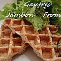 Gaufres jambon - fromage ( au thermomix )