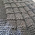 Tuto de l'écharpe à joli motif géométrique
