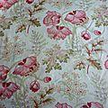 1627 - tissu ancien napoleon iii motif d'indiennes