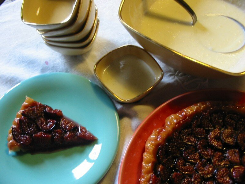 tarte tatin aux figues et crme de yahourt vanille, recette Cyril L.