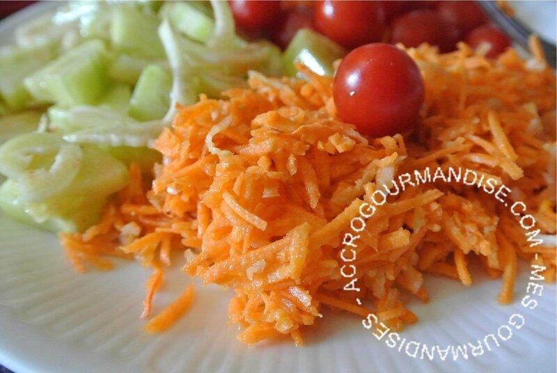 Carottes râpées au fenouil