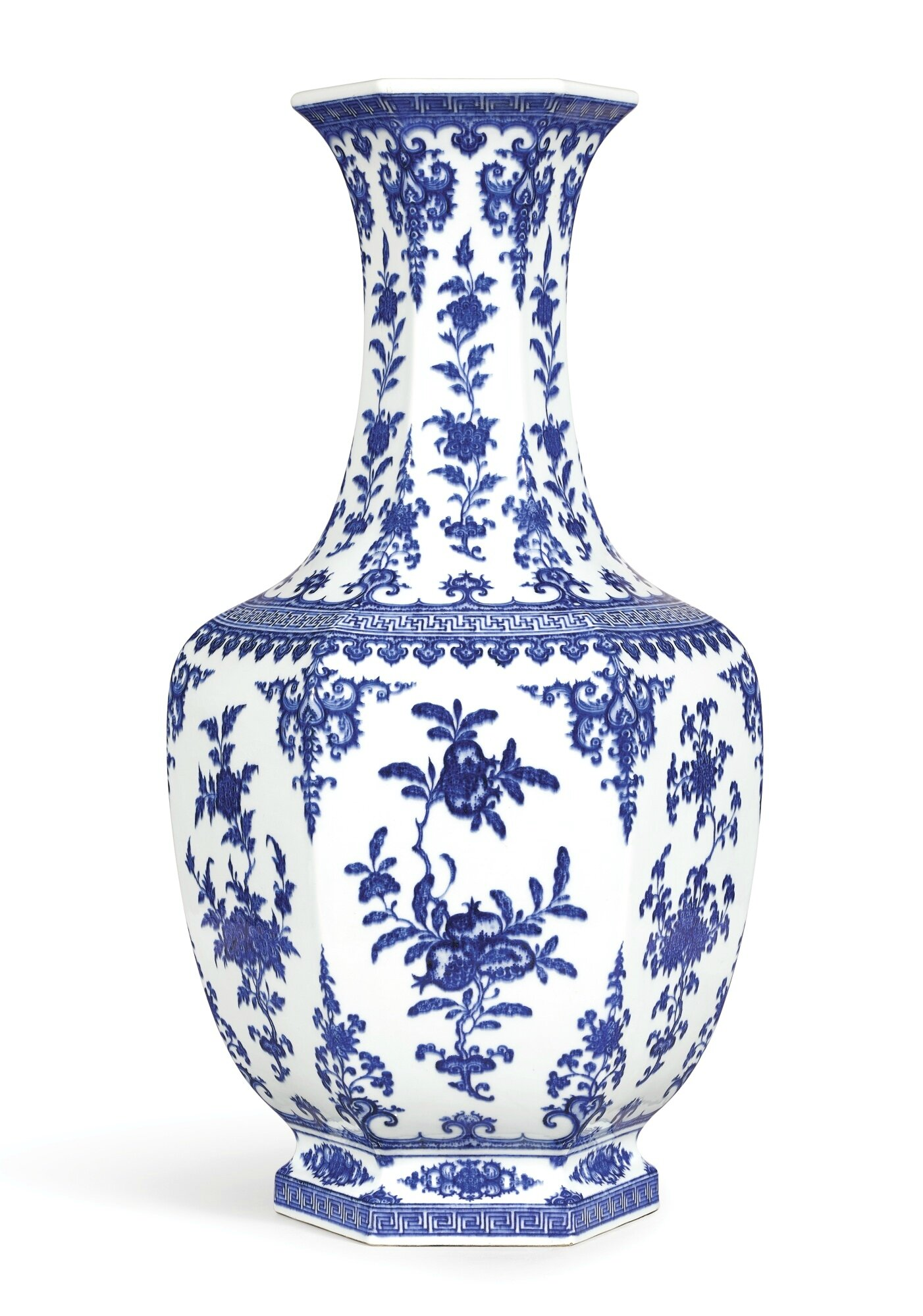 A large blue and white hexagonal vase seal mark and period of a large blue and white hexagonal vase seal mark and period of qianlong reviewsmspy