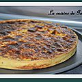 Quiche au thon et au curry