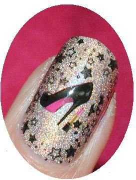 nail art fashion shoes