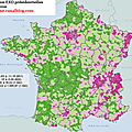 carte lectorale de Marine Le Pen (2002-2012 et 2007-2012)