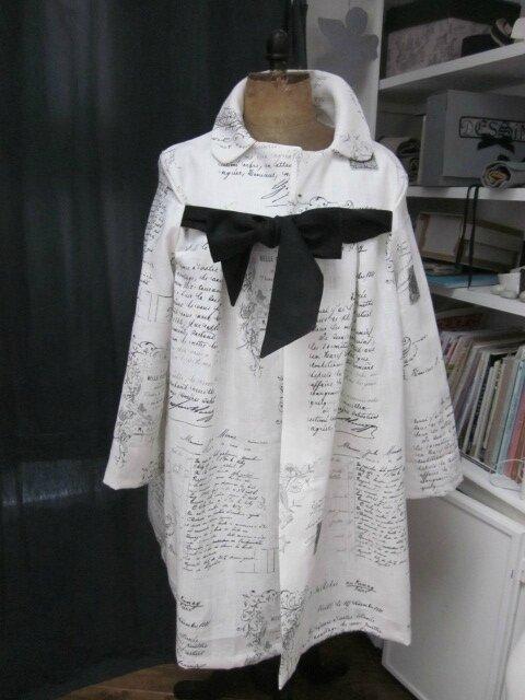 Un manteau AGLAE en lin écru... La Belle Fleuriste...