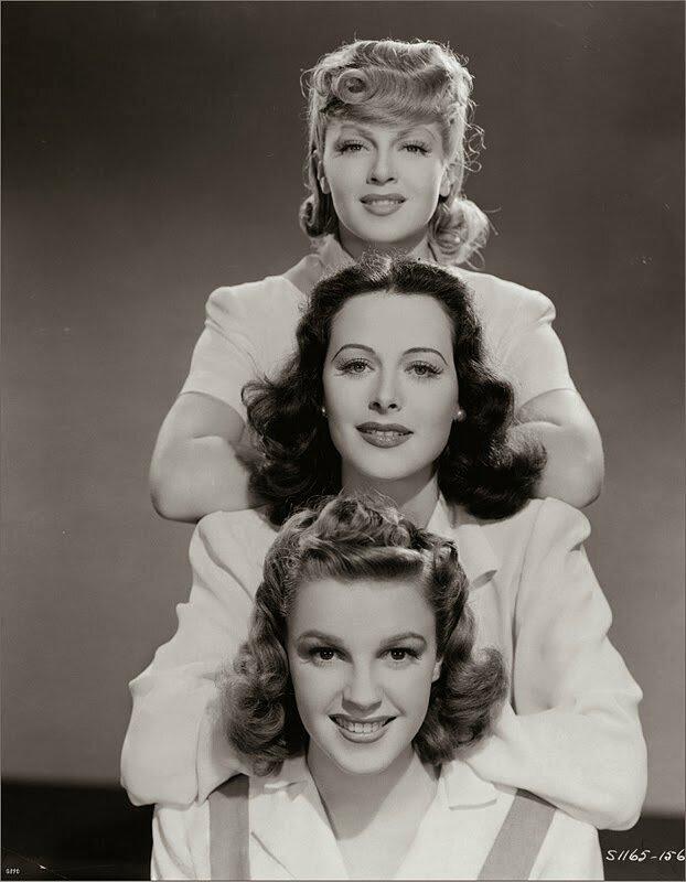 Trois stars estampillées MGM: Lana Turner, Hedy Lamarr, Judy Garland